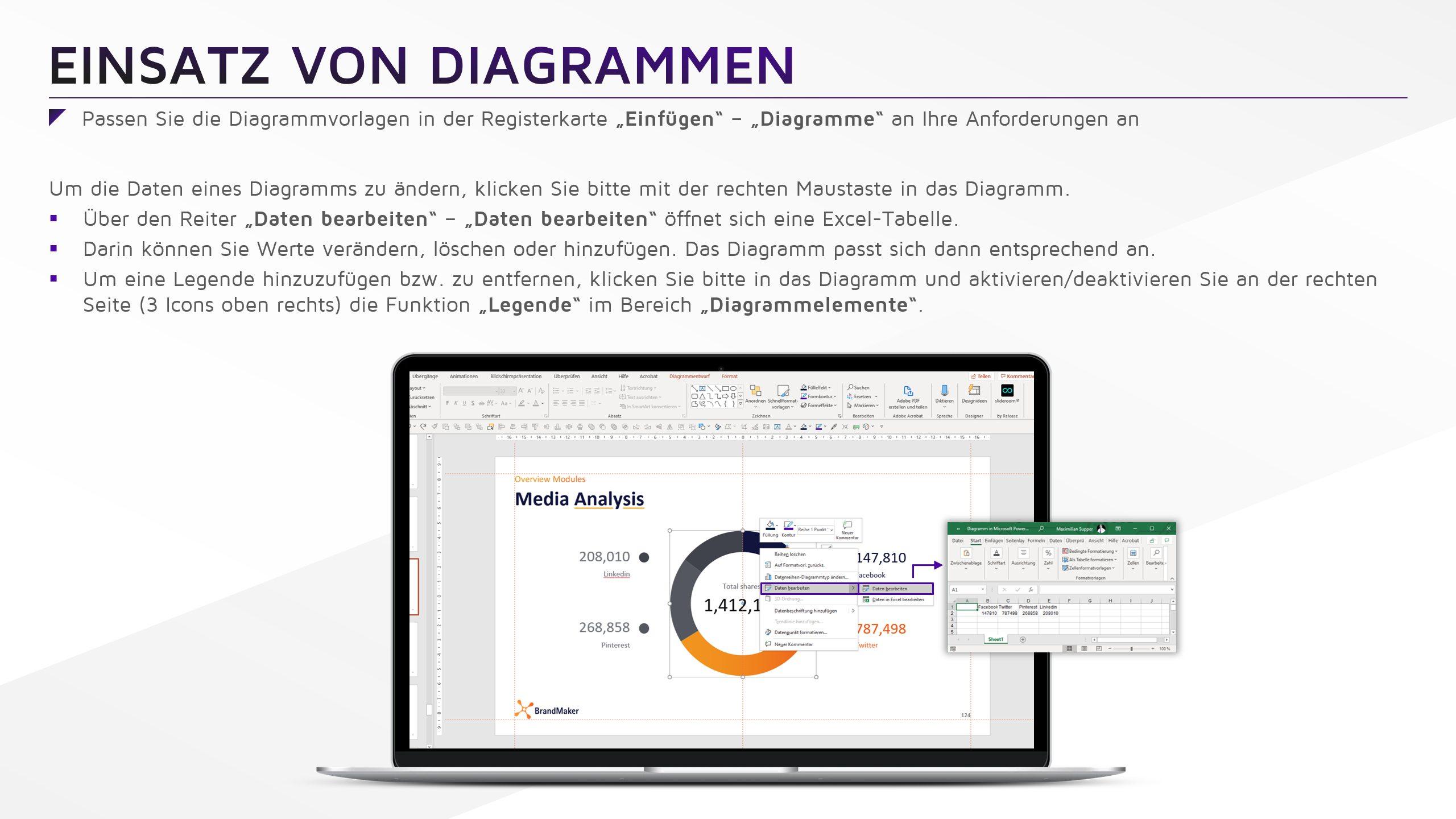 Brand Maker Erklärung Master Leitfaden Diagramme
