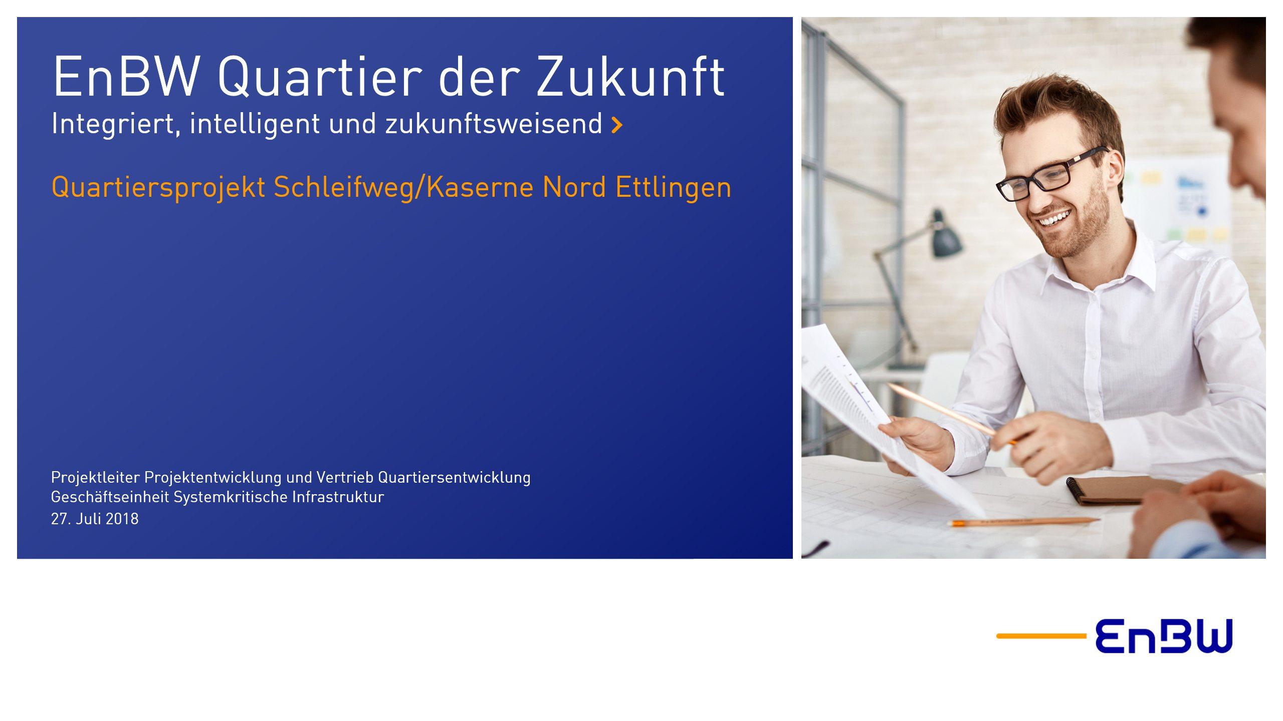 EnBW PowerPoint Präsentation Titelfolie